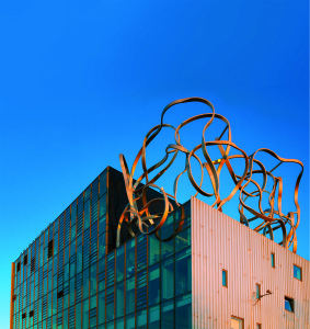 The Ben Pimlott Building with the famous Goldsmiths squiggle