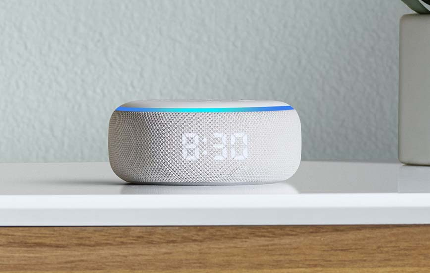 Echo Dot with Clock_Dresser-min