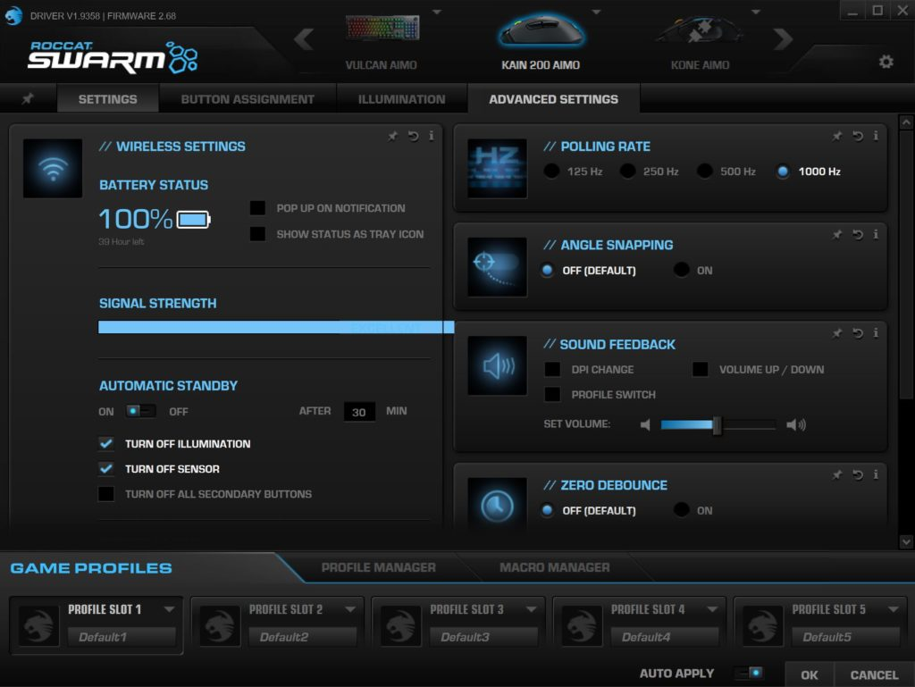 roccat kain 200 aimo swarm software